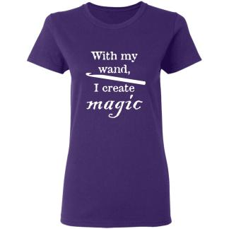 Crochet hook magic wand 5.3 oz t-shirt