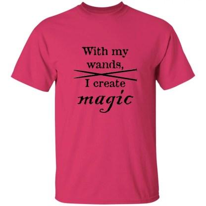 Knitting needles magic wands 5.3 oz t-shirt