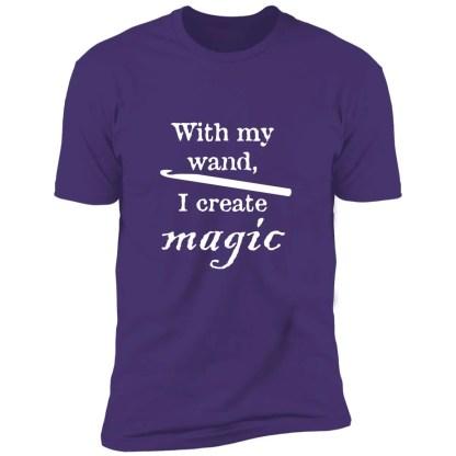 Crochet hook magic wand premium t-shirt