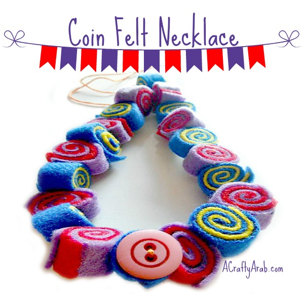 A Crafty Arab Coin Felt Necklace