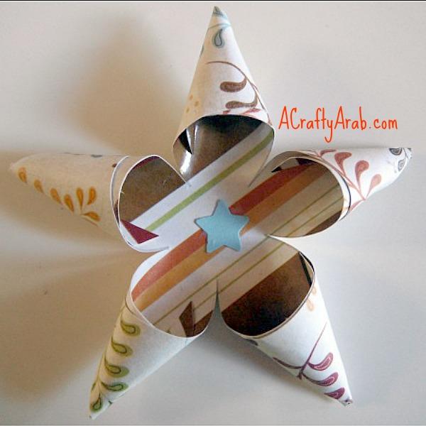 ACraftyArab Curled Star Eid Gift Tag8