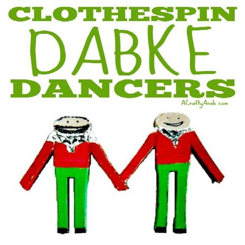 ACraftyArab Clothspin Dabke Dancers Tutorial