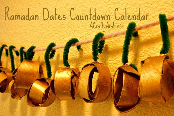 ACraftyArab Ramadan Dates Countdown Calendar