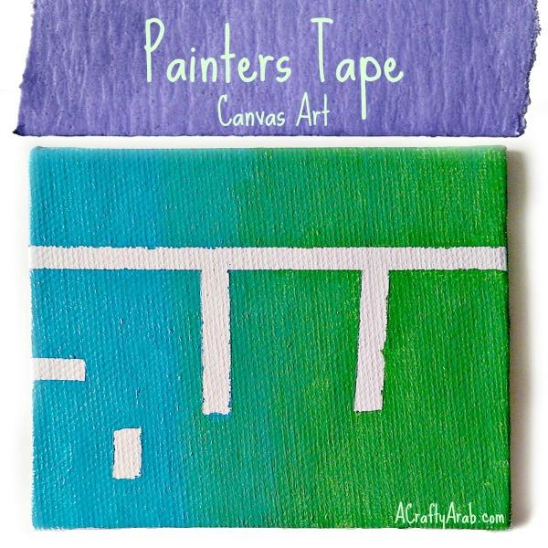 ACraftyArab Painters Tape {Allah} Canvas Art Tutorial
