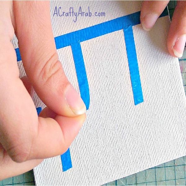 ACraftyArab Painters Tape {Allah} Canvas Art Tutorial