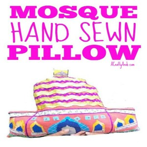 mosque pillow craft, muslim, islam, children