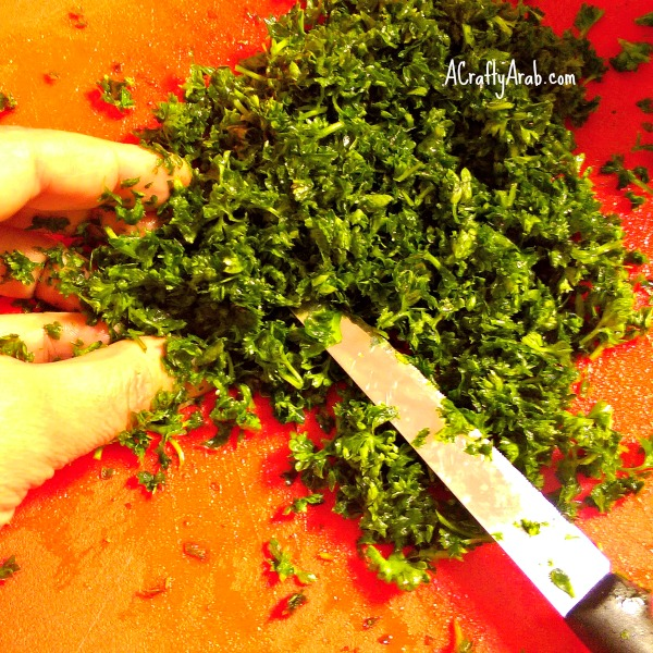 ACraftyArab Tabbouleh in the Morning3