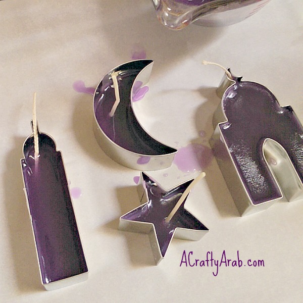 ACraftyArab Cookie Cutter Candles4