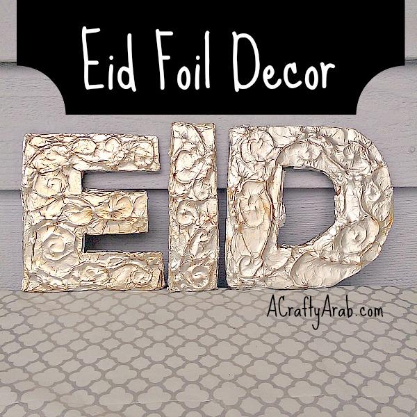 ACraftyArab Eid Foil Decor