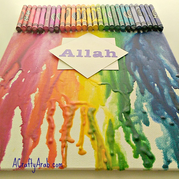 ACraftyArab Melted Crayon Allah Art7