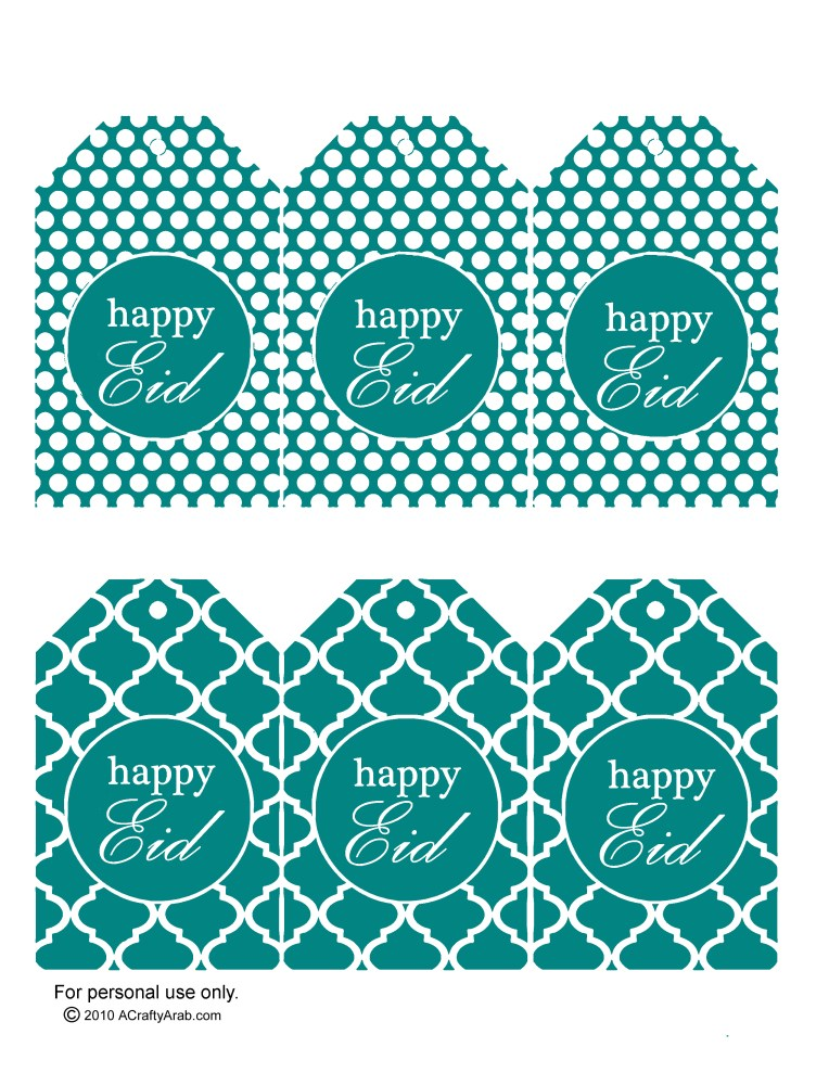 Teal - gift tags