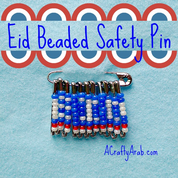 ACraftyArab Eid Beaded Safety Pin1