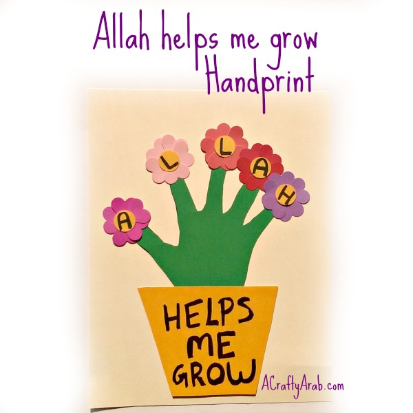 ACraftyArab Allah helps me grown handprint
