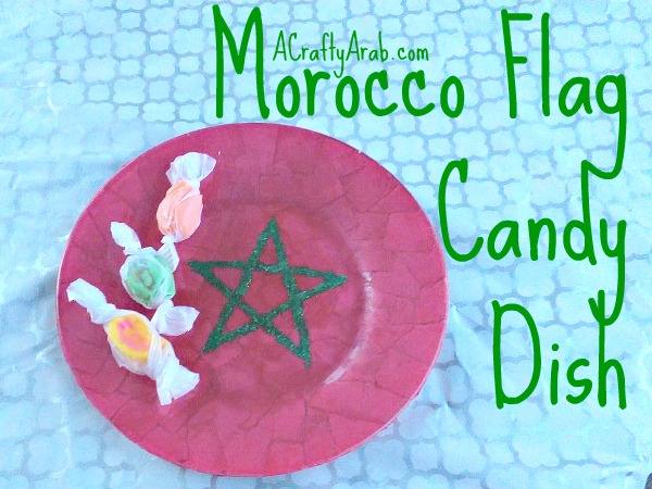 ACraftyArab Morocco Flag Candy Dish