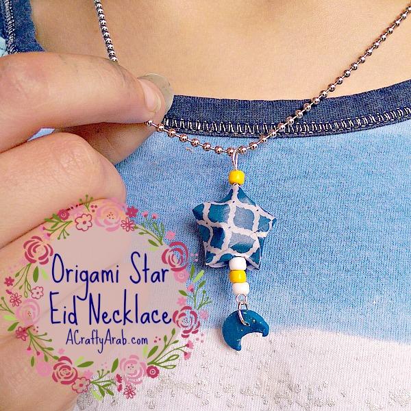 ACraftyArab Origami Star Eid Necklace