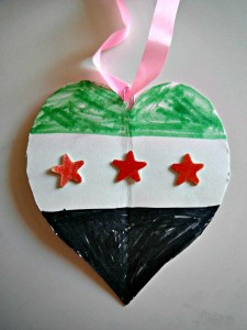 Syrian Flag Heart