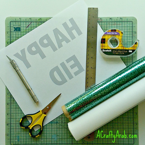 ACraftyArab Happy Eid Cut Out Wrapping Paper2