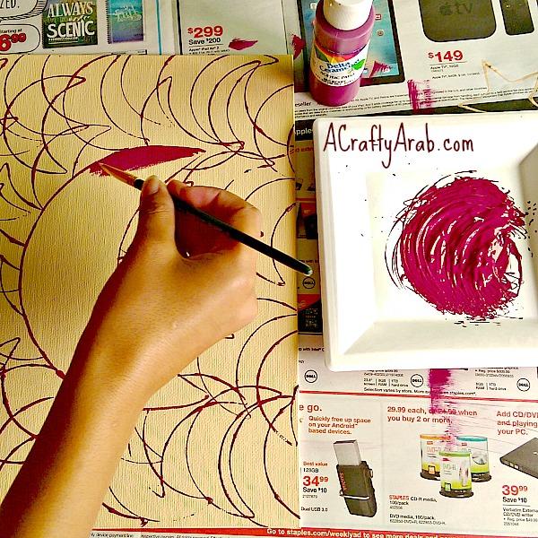ACrafty Arab {Moon & Star} Cookie Cutter Canvas Art Tutorial