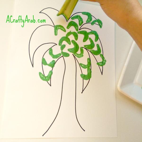 A Crafty Arab Palm Tree Celery Art Tutorial
