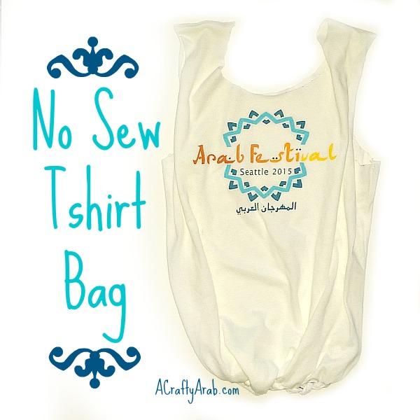 No Sew Tshirt Bag {Tutorial}