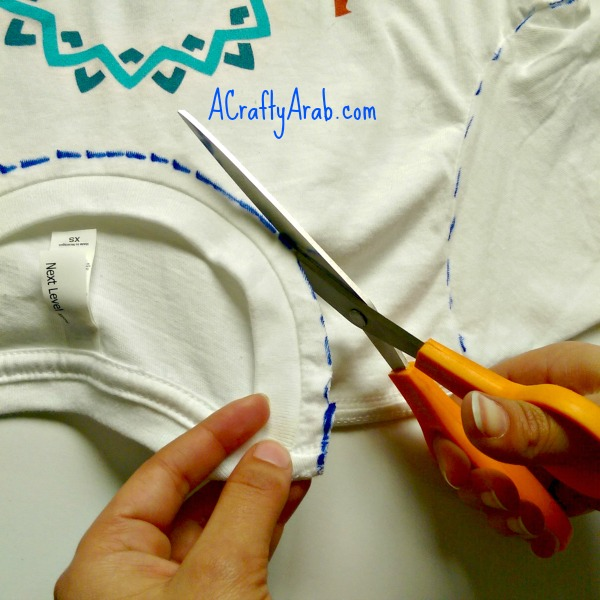 A Crafty Arab No Sew Tshirt Bag Tutorial