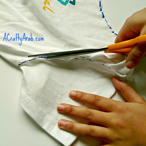 No Sew Tshirt Bag Tutorial