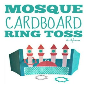 cardboard mosque, islam, muslim, children