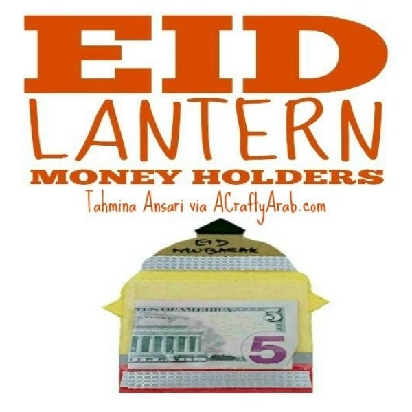 ramadan crafts, eid money holder
