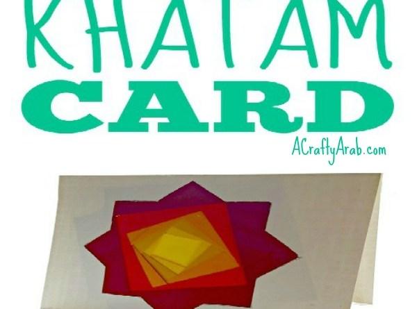 Iris Folding Khatam Card {Tutorial}