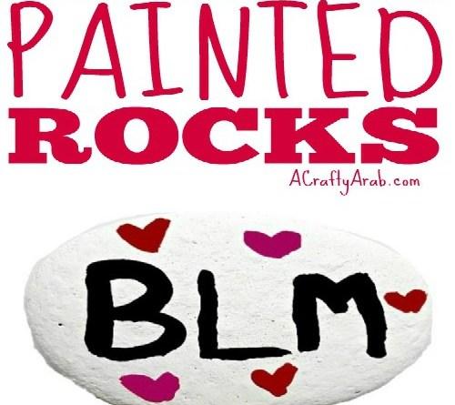 Black Lives Matter Painted Rocks {Tutorial}
