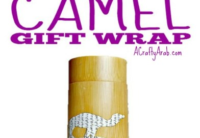 Decoupage Camel Gift Wrap Tutorial