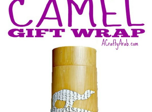 Decoupage Camel Gift Wrap Tutorial