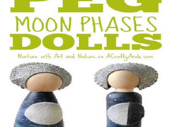 Moon Phases Peg Dolls {Tutorial} Guest Post
