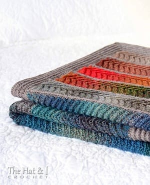 Crochet blanket pattern - crochet afghan pattern - crochet throw pattern - A Crafty Life #crochet #crochetpattern