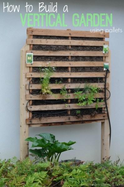 pallet planter vertical garden How to Build a Vertical Garden Using Pallets