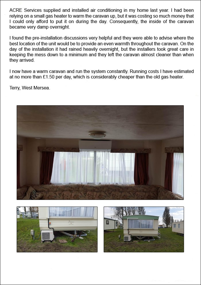 Testimonial from Terry, West Mersea