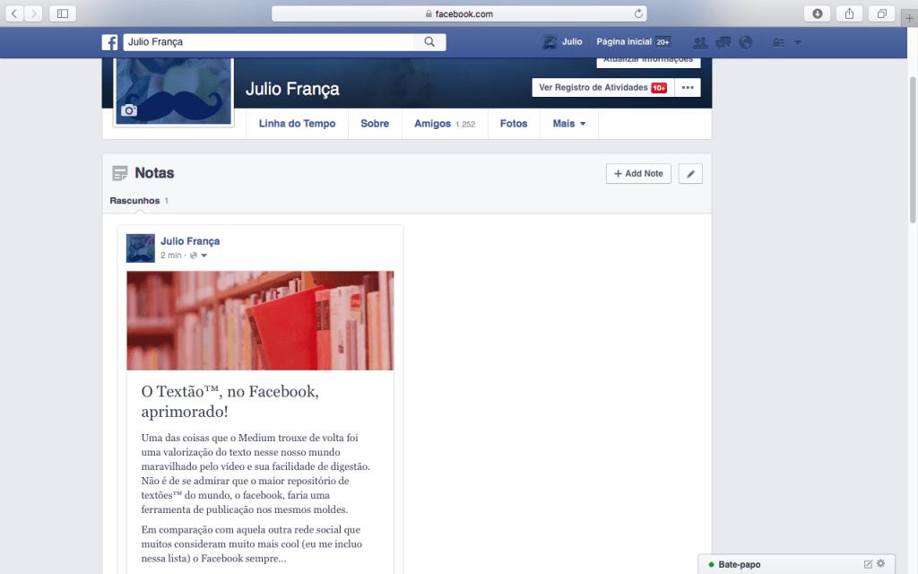 Facebook Notes, textão aprimorado - acredite.co 03