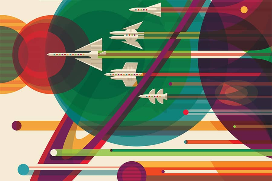 Visions of the Future: pôsteres do sistema solar e além