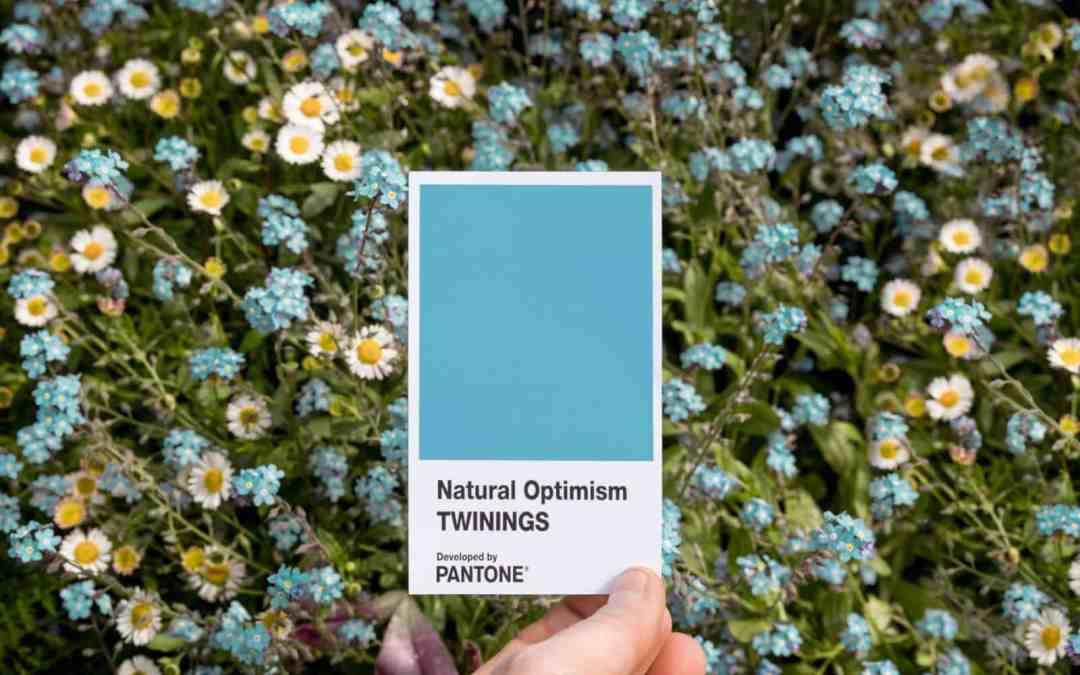 Natural Optimism, nova cor pantone criada em parceria com Twinings