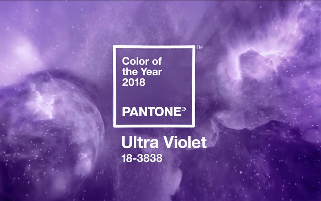 Pantone® Ultra Violet é a cor do ano de 2018