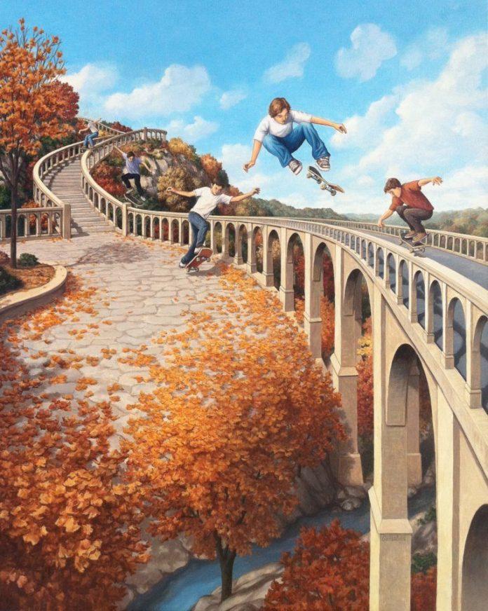 pinturas criativas-crianças skate