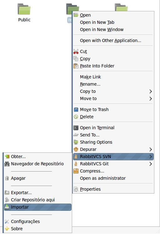 Importar Arquivo para o repositório