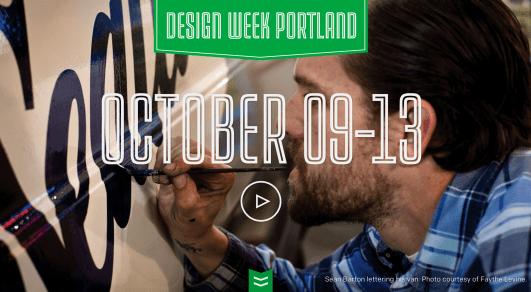 Portland Design Week website via desktop browser