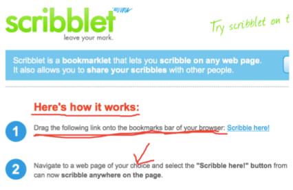 scribblet website