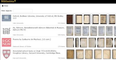 A screenshot of the Biblissima Mirador demo site.