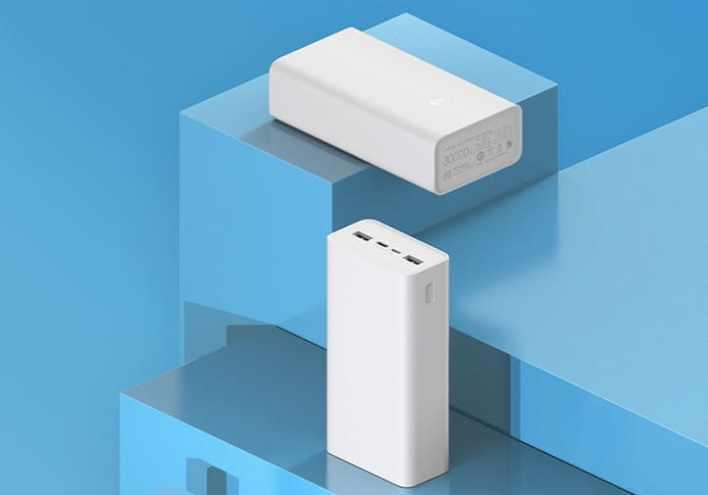 Xiaomi Mi Power Bank 3: быстрая зарядка и емкость 30000мАч