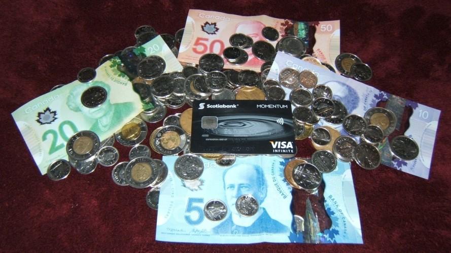 Scotia Infitine Visa With Canadian Money
