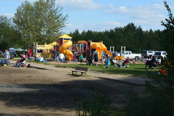 Large Playground in Brewer Campground