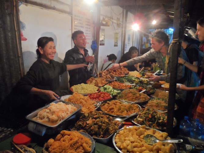 Street Buffet Public Domain