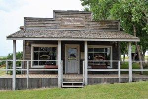 Old Funeral Home at Rowley Alberta